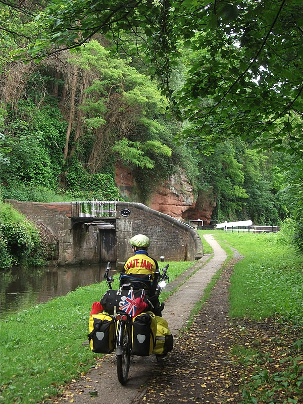 Kidderminster. Riding right into the town centre along the peaceful canal.