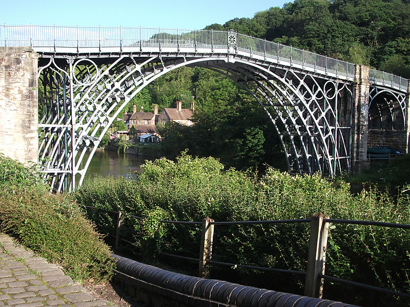 Ironbridge. In the evening, we sat and painted here.