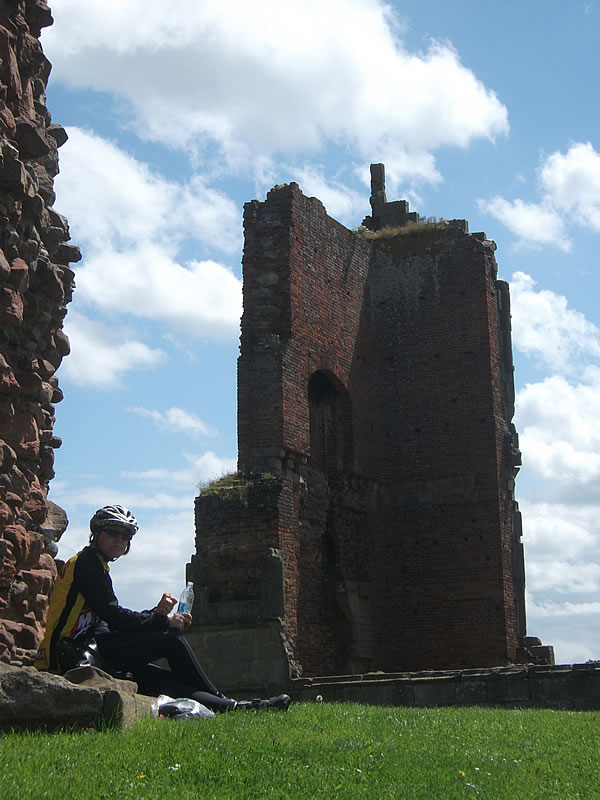 Moreton Corbet ruins. A nice place for a picnic – apart from the constant noise from helicopters on training flights.