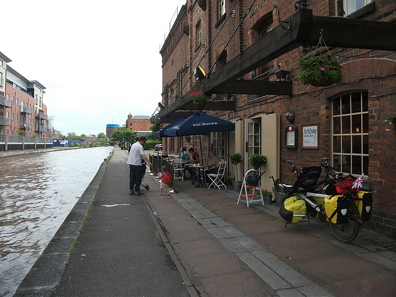 Chester. We stayed on the canal without seeing the town or really knowing we'd passed through.