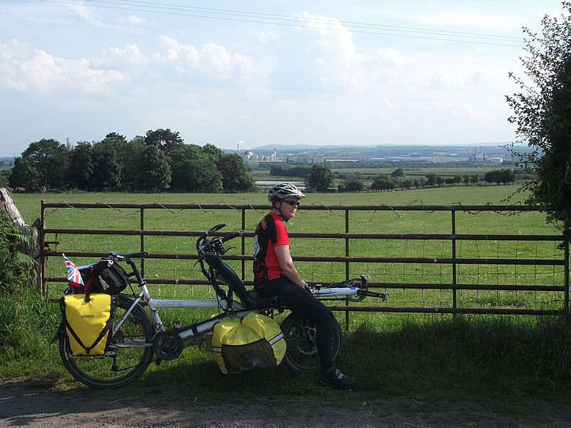 The Wirral. From here we rode to the Eureka Café, a mecca fro cyclists. Got to sign the Lejoggers book too.